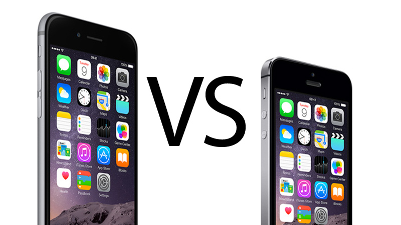 iPhone 5s vs iPhone 6 comparison