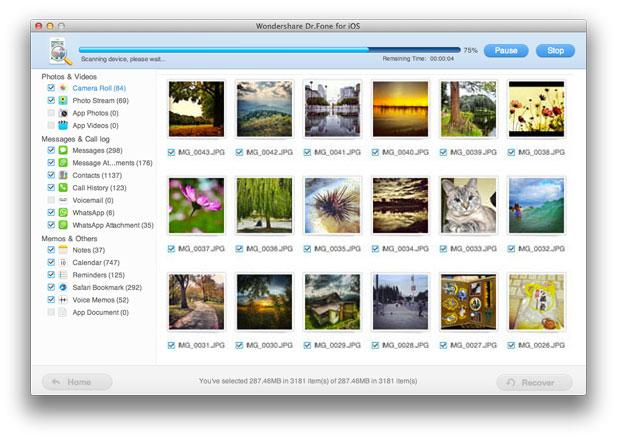 restore iPhone photo on Mac